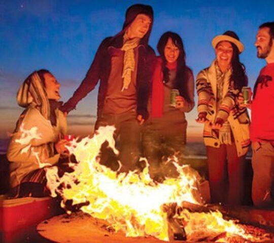 Bonfire at Dock Wilder Beach